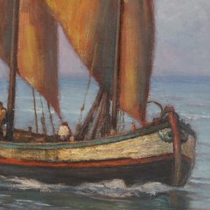 Barca di pescatori, dettaglio